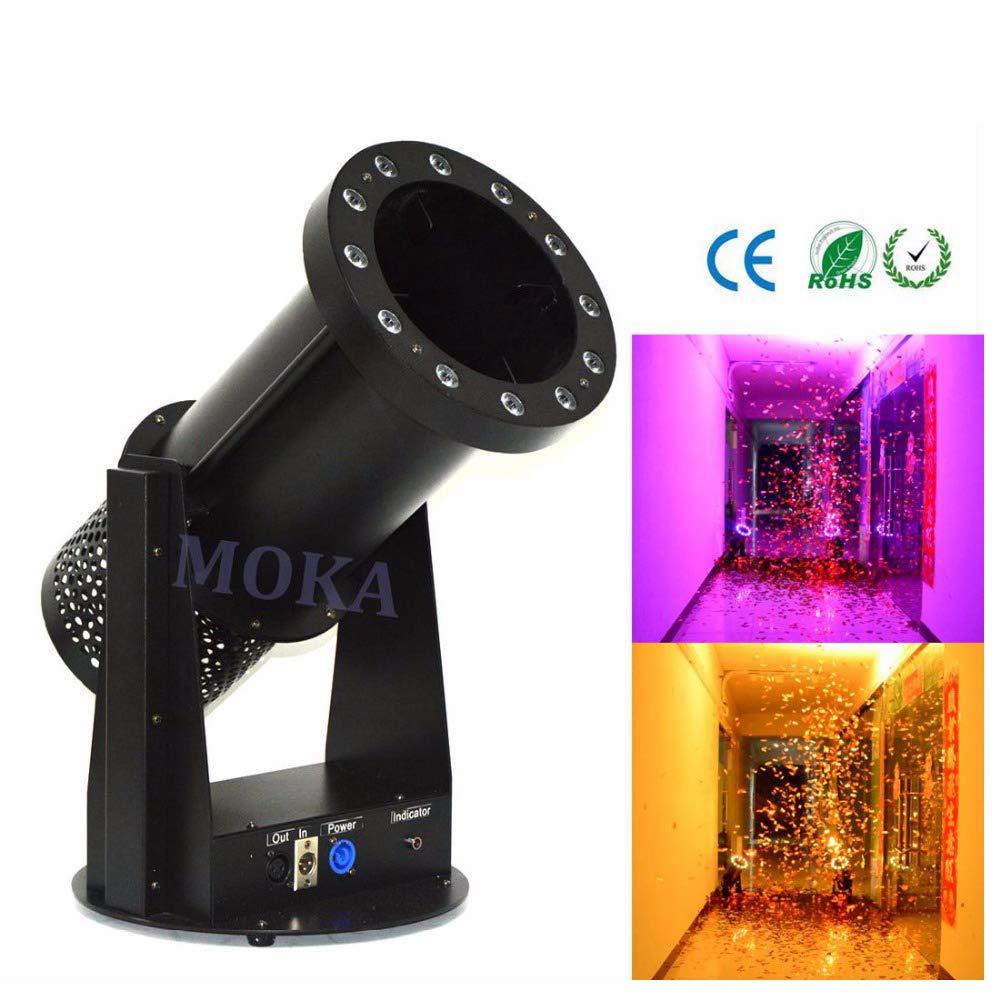 Azalmu LED Confetti Machine 1200W Hight Output Fog Machine with 12x3W RGB Light DMX Control for Stage Special Effect Wedding DJ Club