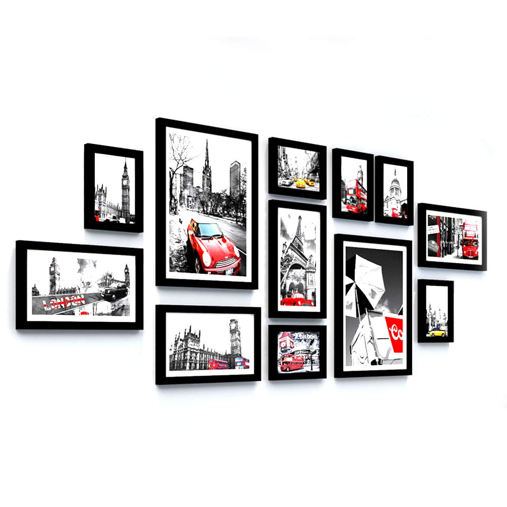 AXXK Photo Frame Collage Photo Frame Wall Home Decor - Black Creative Photo Frame Wall Picture Frame Decorative Painting by AXXK