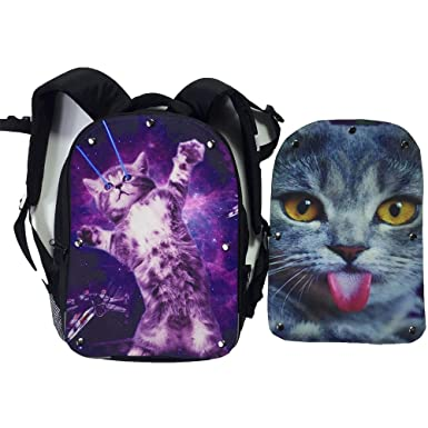 Mingdou Cat Backpack For Toddler Kids Boys Girls Animal Personalized  Printing Bags(DB2Cat1 bb1059a4826f2