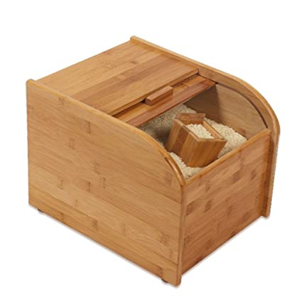 Grain Container Store Rice Box Food Canning Wood In Addition To Pests  Moisture Proof Seal