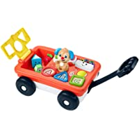 Fisher-Price Laugh & Learn Pull & Play Learning Wagon, pull-toy wagon with music, lights, and learning songs for babies…