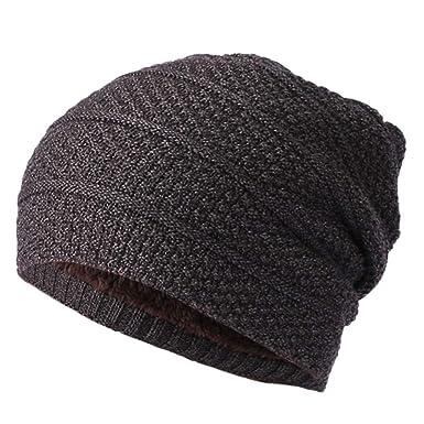 25c8b9457425e Cebbay Bonnet Hommes Femmes Chapeau,Béret Baggy Chaud Torsion Pointu  Casquette Ski Plate Turban,Hiver Crâne Slouchy Chaud Wrap Hat Chapeaux  Headwear Beanie ...