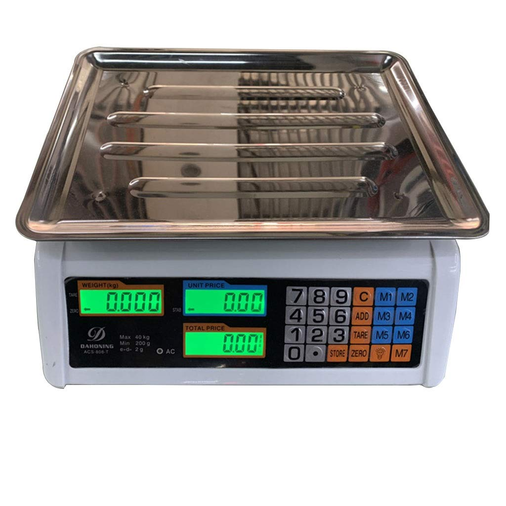WCX Digital Balanza Electronic 40Kg/5g Báscula Cocina ...