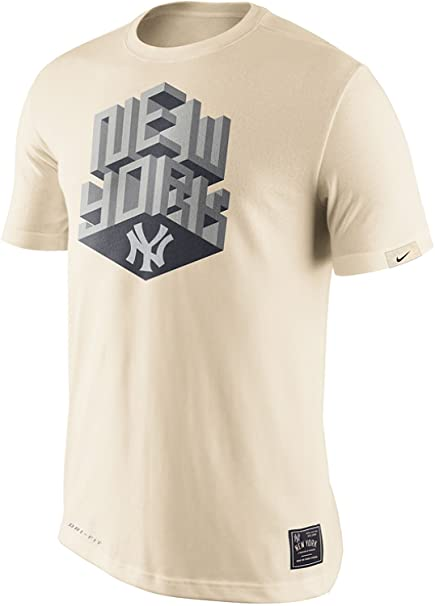 Nike New York Yankees 3D Block Metallic Dri-Fit Cotton Men s T-Shirt ( a86ab9ab069