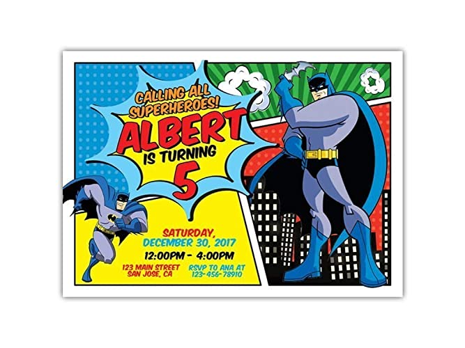 Amazon Custom Batman Birthday Party Invitations For Kids 10pc