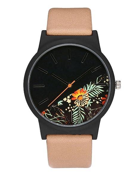 jsdde Relojes, Vintage Clásica Reloj de pulsera diseño de margaritas Basel estilo de reloj mujer