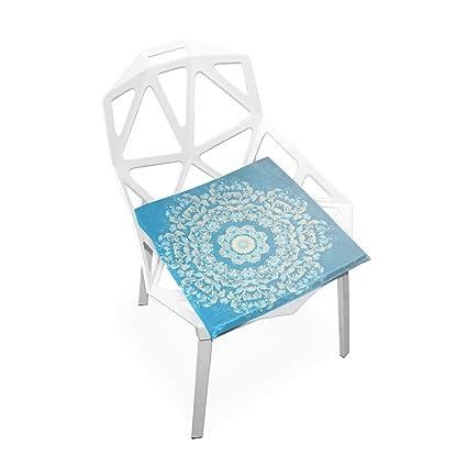 Amazon.com: Plao suave cojín asiento patrón Roma Azul ...