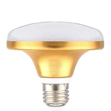 KHXYP Bombillas LED E27 Bombilla LED 24LED 5730 SMD UFO Lámpara Alta Potencia Plana 12W (