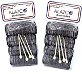 ALAZCO 8 pc Vintage Style Hair Rollers XLarge BRUSH