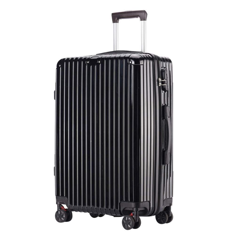 YD スーツケース トロリーケース - ABS/PC、防水および衝突防止、調節可能なレバー、スタイリッシュで小さくて傷の付かないキャスターの学生大容量パスワードスーツケース - 5色、2サイズあり /& (色 : Noble black, サイズ さいず : 40.5*24.5*56cm) 40.5*24.5*56cm Noble black B07MX9ZNVK