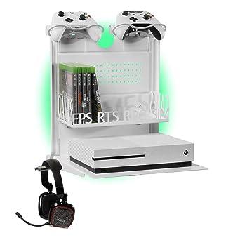 GameSide Bundle Big Daddy - Soporte de pared horizontal con ventilador, USB led lights strip