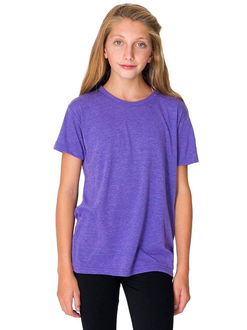 American Apparel - Polo - Vestir - para niño Morado Tri-Orchid 12 ...