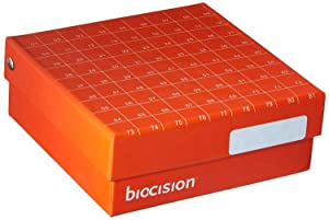 Biocision Hinged CryoBox, 81-Place, Orange 5PK