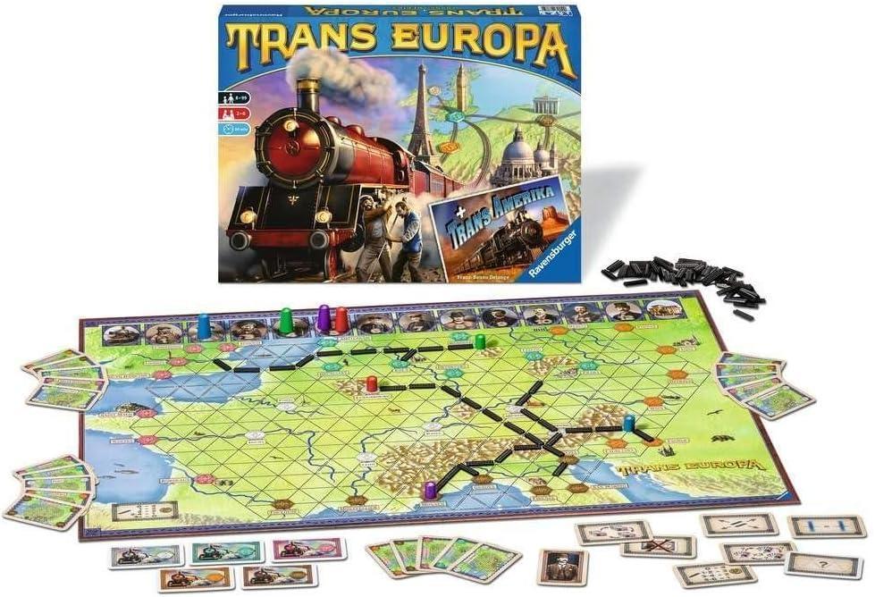 Ravensburger Juego en Caja Trans Europa, Multicolor, 26054: Amazon.es: Juguetes y juegos