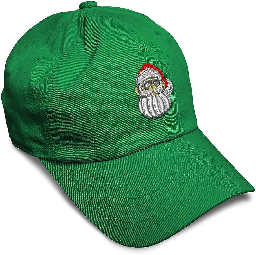 Custom Soft Baseball Cap Santa with Shades Embroidery Dad Hats for Men /& Women