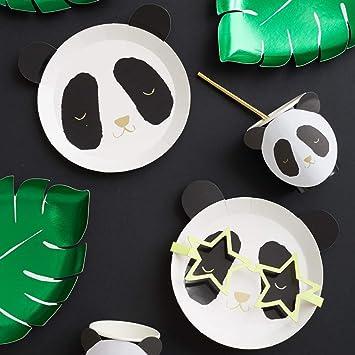 Set of 16 Meri Meri Small Panda Bear Napkins with Gold Foil Details Panda Bear Napkins