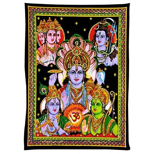 Gangesindia Panchadev Five Supreme Gods - Bahma Vishnu Mahesh, Krishna and Rama