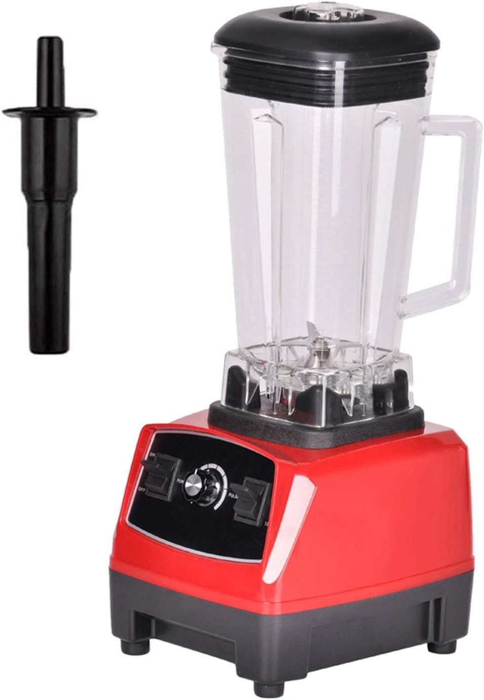 BPA Free 3HP 2200W Heavy Duty Commercial Grade Mixer Juicer High Power Food Processor Ice Smoothie Bar Fruit Blender,RED,UK Plug