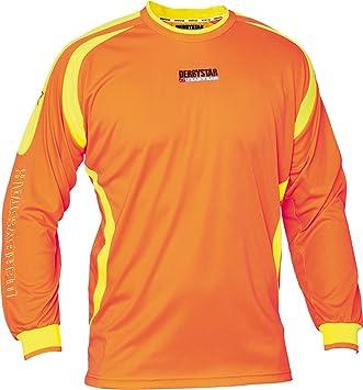 Derbystar Torwarttrikot Aponi - Camiseta de portero de fútbol para niño, color naranja, talla