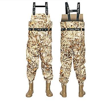 YANXH Pesca Engrosada para Hombre Pantalones Impermeables ...