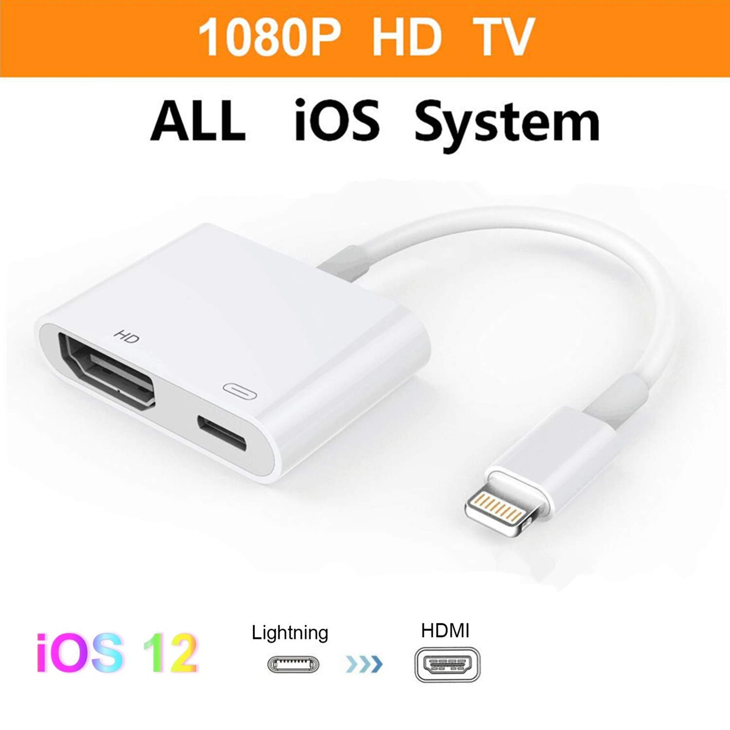 Lightning To Hdmi Digital Tv Av Adapter Cable For Apple