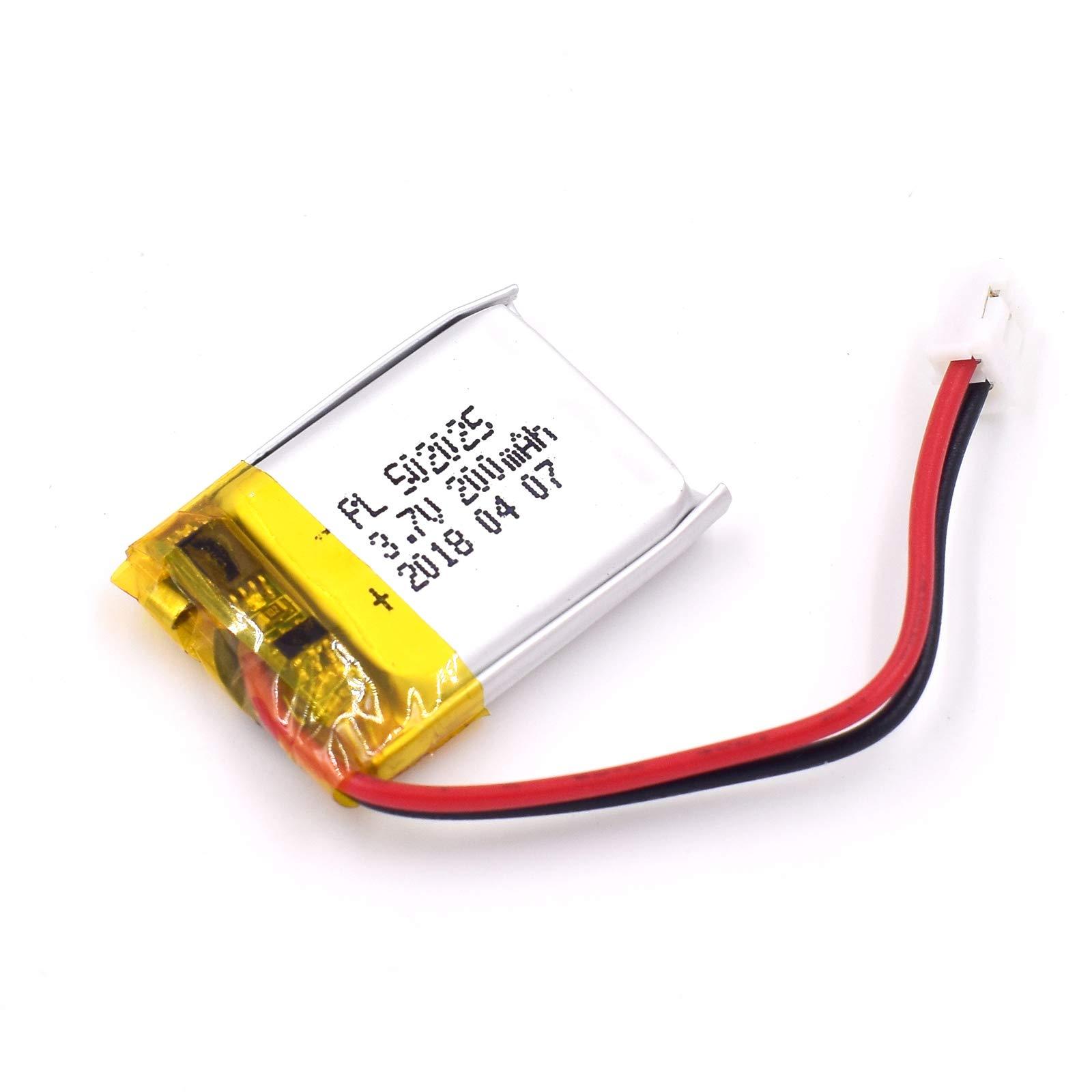 Bateria Lipo 3.7V 200mAh 502025 Recargable JST Conector