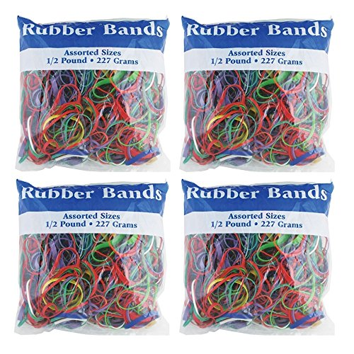Assorted Dimensions Rubber 465 48P 4 Pack
