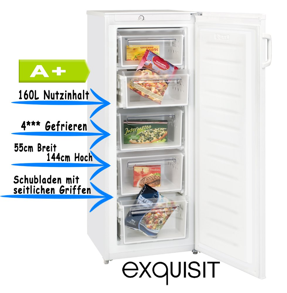 Exquisit GS 175 A+ Independiente Vertical 170L A+ Blanco ...