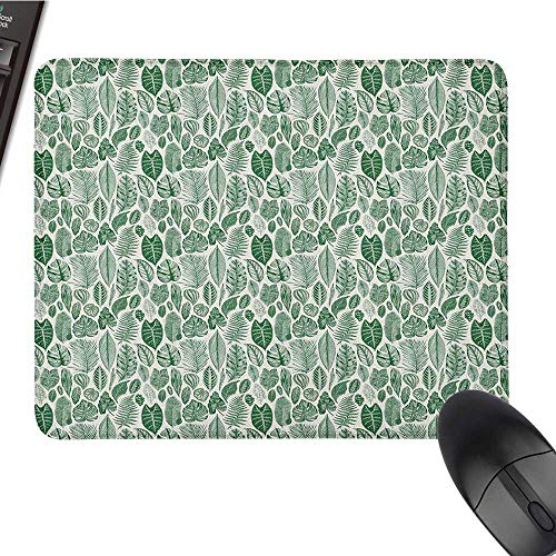 Anime Mouse pad Botanical,Vintage Floral Pattern with Detailed Exotic Leaves from Different Trees, Green and Ivory Customized Mouse Pad 15.7 x23.6 INCH (Ny Yankees Diamond)