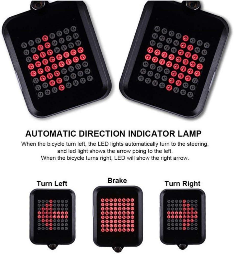 Leezo - Luz Intermitente para Bicicleta, indicador de dirección ...