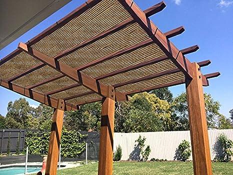 Ecover 90% Shade Cloth Coffee Sunblock Fabric with Rope UV Resistant for  Patio/Pergola - Amazon.com : Ecover 90% Shade Cloth Coffee Sunblock Fabric With Rope