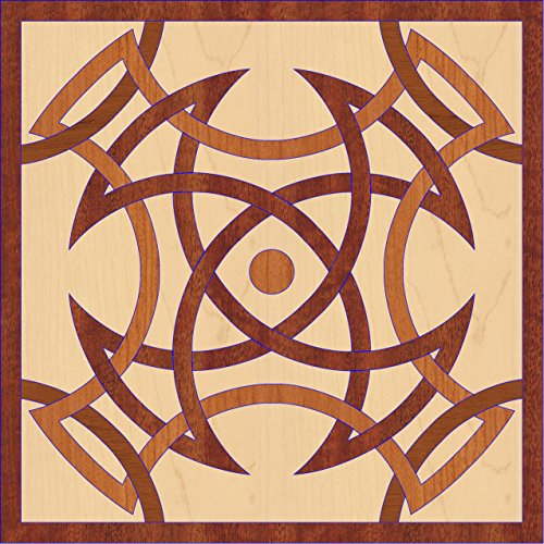 Sumatra Wood Floor Medallion - 30 inch diameter