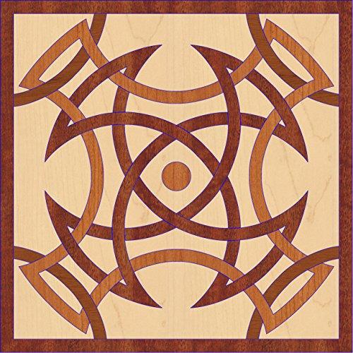 Sumatra Wood Floor Medallion - 30 inch diameter