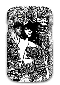 Awesome Graphic Art Flip Case With Fashion Design For Galaxy S3