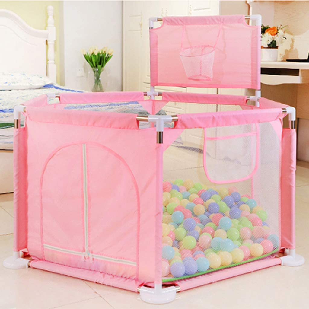 Baby Playpen with Storage Bag,Baby Durable Anti-Fall Sturdy Crawl Toddler Playpen Baby Ball Pit Tent with Crawling Mat
