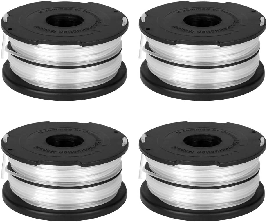 "OFPOW Trimmer Replacement Spool 36ft 0.065"" Compatible with Black and Decker GH710 GH700 GH750 DF-065 for Black&Decker Weed Eater String Auto-Feed Spools Dual Line Edger Parts - 4 Pack"