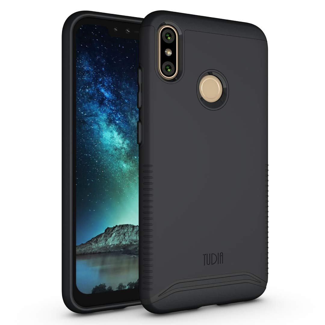 BLU VIVO XI+ Case, TUDIA Slim-Fit Heavy Duty [Merge] Extreme Protection/Rugged but Slim Dual Layer Case for BLU VIVO XI+ [NOT Compatible with VIVO XL4] (Matte Black)