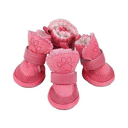 4fe8d7f0867e0 Amazon.com : Haoweidaoshanghang Dog Shoes, Teddy, Bichon, Pomeranian ...