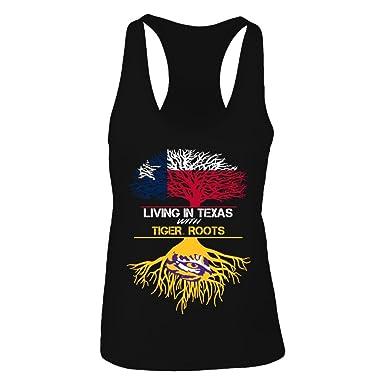 f50b88e1fc6c1c FanPrint Official Sports Apparel Women s Tank Top LSU Tigers Living Roots  Texas