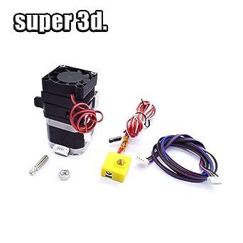3D Printer MK8 MK9 Plastic Left//Right hand Extruder Hotend+Motor+Nozzle+Fan.