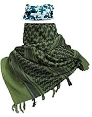 "iMucci 43""x43"" Arab Tactical Scarf 100% Cotton - Desert Military Shemagh (6 Colors)"