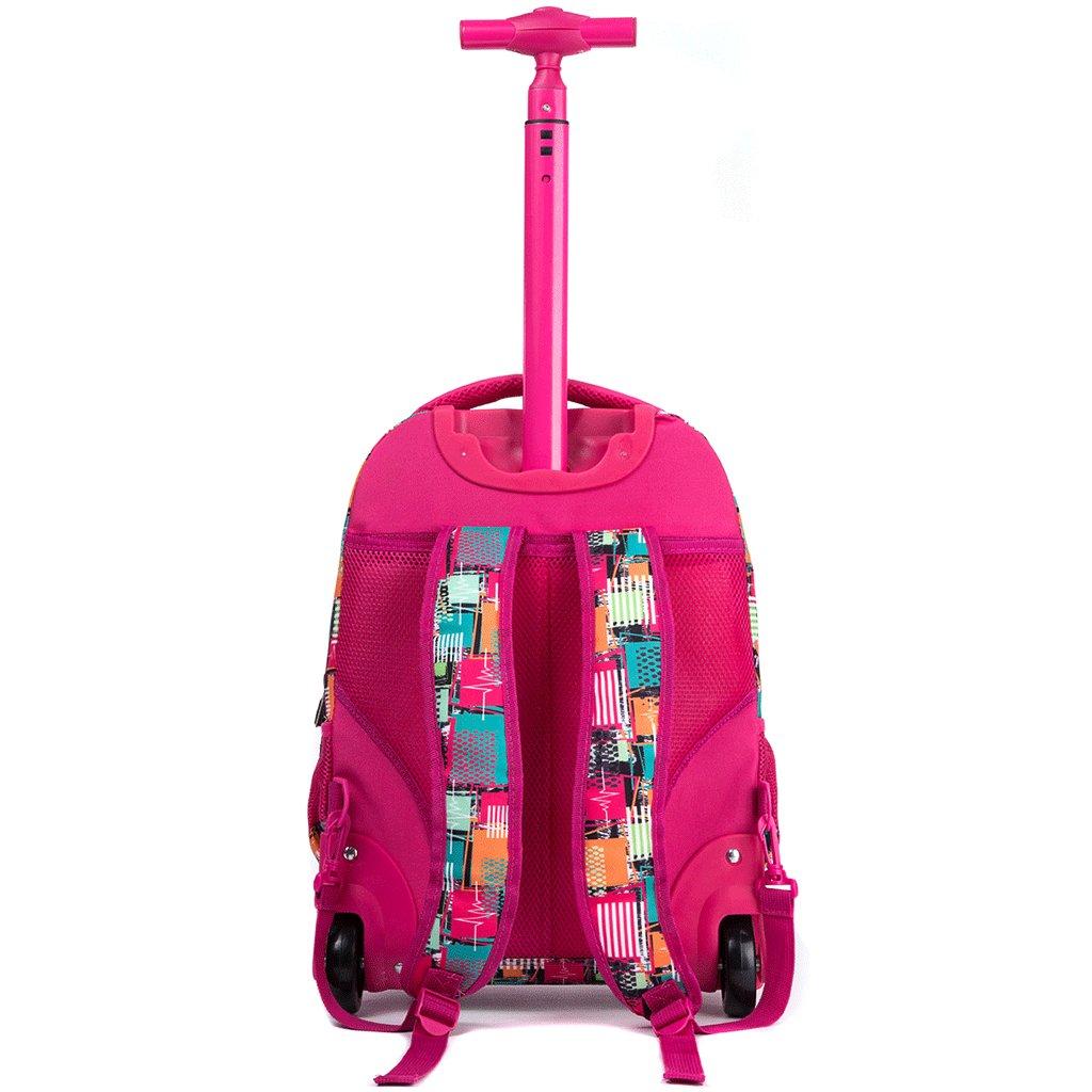 617b056fdf Boys Girls Rolling School Backpacks - Kids Print Pattern Trolley Schoolbag  2 Wheeled Waterproof Primary Child Bag Outdoor Travelling Nylon Adult  Teenager ...