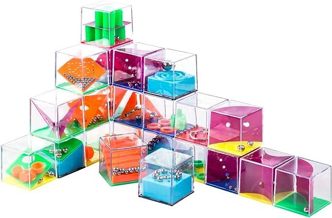BOROK 24 Piezas Juegos de Habilidad Laberinto + 24 Piezas Metal 3D Rompecabezas Brain Teaser Calendario Adviento Educativo Juguetes Puzzle para Niños y Adultos: Amazon.es: Juguetes y juegos