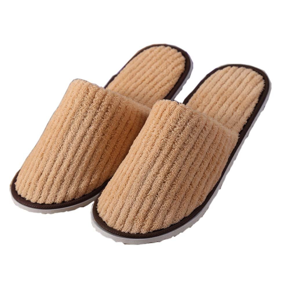 10 Pairs Hotel Travel Spa Disposable Slippers Home Guest Slippers for Adults, 08 FANCY PUMPKIN