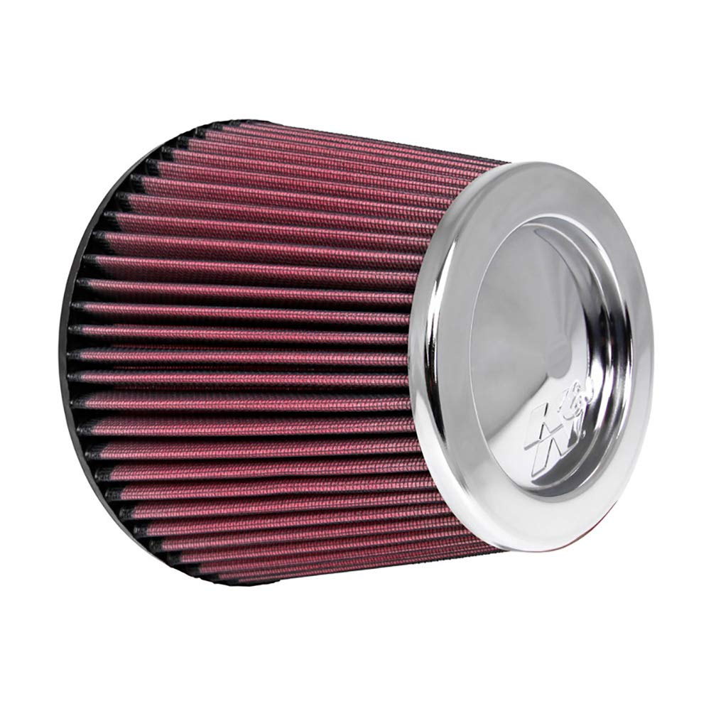 K&N Universal Clamp-On Engine Air Filter: Washable and Reusable: Round Tapered; 6 in (152 mm) Flange ID; 8 in (203 mm) Height; 7.5 in (191 mm) Base; 5 in (127 mm) Top , RF-1044 by K&N