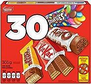 NESTLÉ Mini Halloween Assorted Chocolate & Candy - KITKAT, Coffee Crisp, AERO, Smarties - 303g (Pack of 30