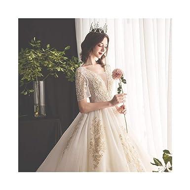 LMLSHHSLF Vestido novia boda blanco Vestido de novia, vestido de ...