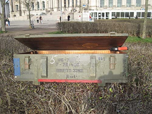 NVA Caja de Madera Mesa Shabby de Chick de Vintage caj/ón-estanter/ía Militar Sal/ón