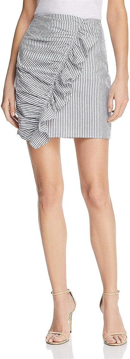 The Fifth Label Women's Anagram Stripe Ruffle Mini Skirt