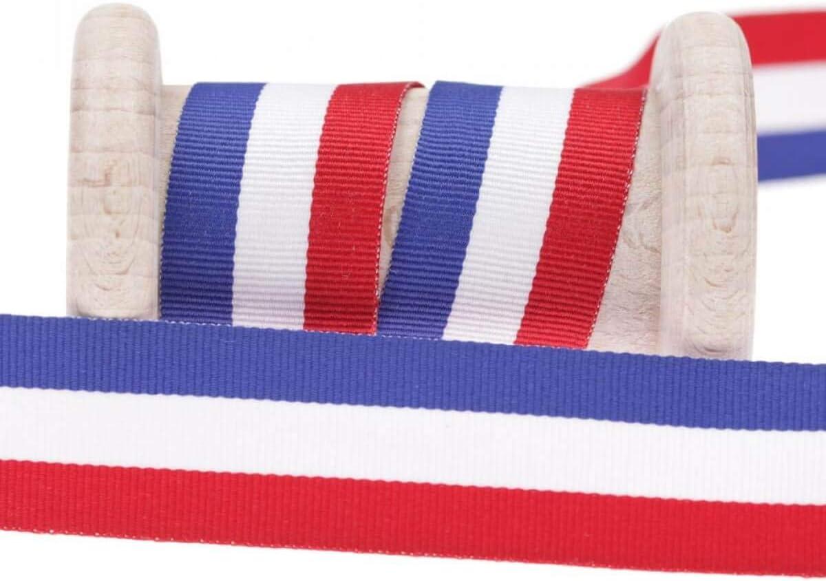 Cinta bandera francés al metro – 10, 15 o 25 mm, tela, multicolor, 15 mm: Amazon.es: Hogar